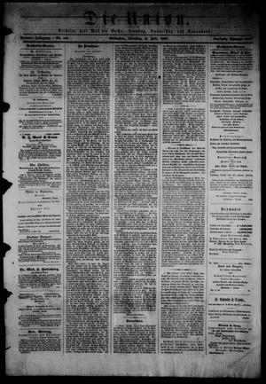 Die Union (Galveston, Tex.), Vol. 9, No. 110, Ed. 1 Tuesday, July 9, 1867