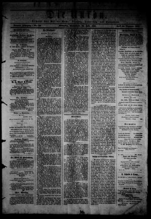 Primary view of object titled 'Die Union (Galveston, Tex.), Vol. 9, No. 115, Ed. 1 Saturday, July 20, 1867'.