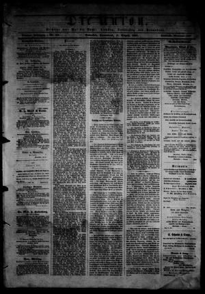Primary view of object titled 'Die Union (Galveston, Tex.), Vol. 9, No. 125, Ed. 1 Saturday, August 17, 1867'.