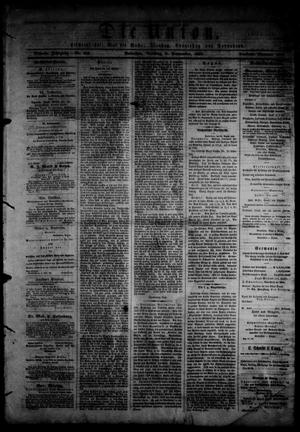 Primary view of object titled 'Die Union (Galveston, Tex.), Vol. 9, No. 132, Ed. 1 Tuesday, September 3, 1867'.