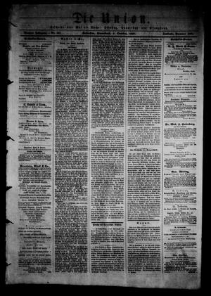 Primary view of object titled 'Die Union (Galveston, Tex.), Vol. 9, No. 145, Ed. 1 Saturday, October 5, 1867'.