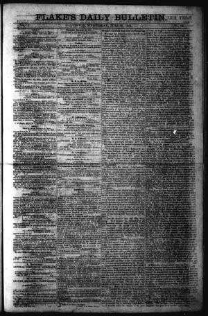 Primary view of object titled 'Flake's Daily Bulletin. (Galveston, Tex.), Vol. 1, No. 12, Ed. 1 Wednesday, June 28, 1865'.