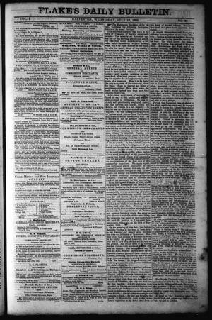 Primary view of object titled 'Flake's Daily Bulletin. (Galveston, Tex.), Vol. 1, No. 29, Ed. 1 Wednesday, July 19, 1865'.