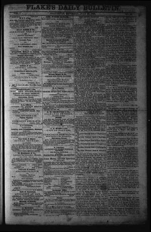 Primary view of object titled 'Flake's Daily Bulletin. (Galveston, Tex.), Vol. 1, No. 32, Ed. 1 Saturday, July 22, 1865'.