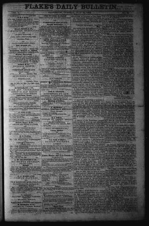 Primary view of object titled 'Flake's Daily Bulletin. (Galveston, Tex.), Vol. 1, No. 34, Ed. 1 Tuesday, July 25, 1865'.