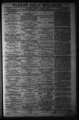 Primary view of object titled 'Flake's Daily Bulletin. (Galveston, Tex.), Vol. 1, No. 45, Ed. 1 Monday, August 7, 1865'.