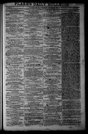 Primary view of object titled 'Flake's Daily Bulletin. (Galveston, Tex.), Vol. 1, No. 59, Ed. 1 Wednesday, August 23, 1865'.