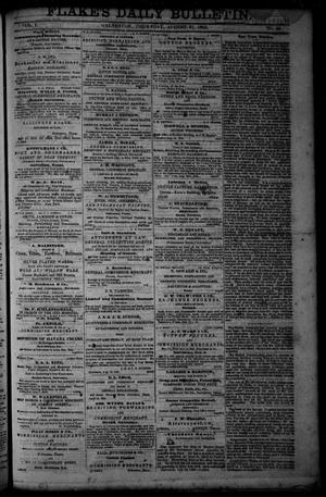 Primary view of object titled 'Flake's Daily Bulletin. (Galveston, Tex.), Vol. 1, No. 66, Ed. 1 Thursday, August 31, 1865'.
