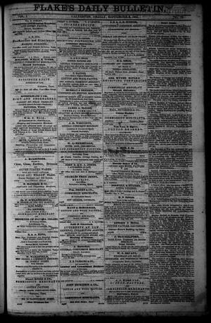 Primary view of object titled 'Flake's Daily Bulletin. (Galveston, Tex.), Vol. 1, No. 73, Ed. 1 Friday, September 8, 1865'.