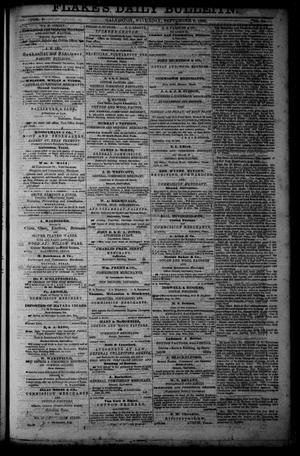Primary view of object titled 'Flake's Daily Bulletin. (Galveston, Tex.), Vol. 1, No. 74, Ed. 1 Saturday, September 9, 1865'.