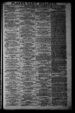 Primary view of object titled 'Flake's Daily Bulletin. (Galveston, Tex.), Vol. 1, No. 83, Ed. 1 Wednesday, September 20, 1865'.