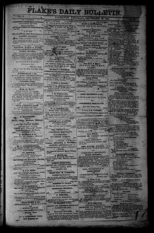 Primary view of object titled 'Flake's Daily Bulletin. (Galveston, Tex.), Vol. 1, No. 86, Ed. 1 Saturday, September 23, 1865'.