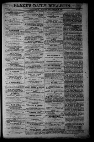 Primary view of object titled 'Flake's Daily Bulletin. (Galveston, Tex.), Vol. 1, No. 88, Ed. 1 Tuesday, September 26, 1865'.