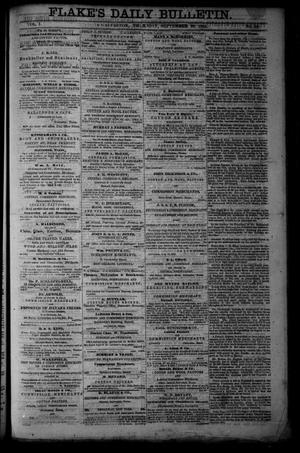 Primary view of object titled 'Flake's Daily Bulletin. (Galveston, Tex.), Vol. 1, No. 90, Ed. 1 Thursday, September 28, 1865'.