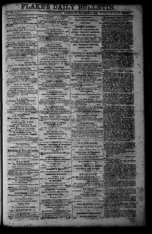 Primary view of object titled 'Flake's Daily Bulletin. (Galveston, Tex.), Vol. 1, No. 96, Ed. 1 Thursday, October 5, 1865'.