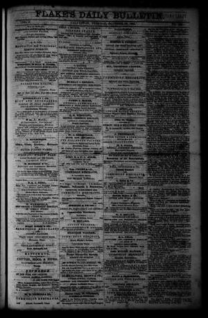 Primary view of object titled 'Flake's Daily Bulletin. (Galveston, Tex.), Vol. 1, No. 100, Ed. 1 Tuesday, October 10, 1865'.
