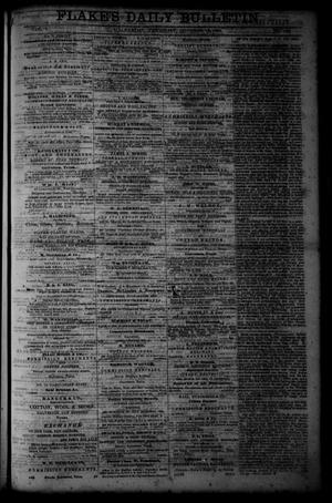 Primary view of object titled 'Flake's Daily Bulletin. (Galveston, Tex.), Vol. 1, No. 102, Ed. 1 Thursday, October 12, 1865'.