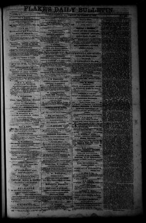 Primary view of object titled 'Flake's Daily Bulletin. (Galveston, Tex.), Vol. 1, No. 104, Ed. 1 Saturday, October 14, 1865'.
