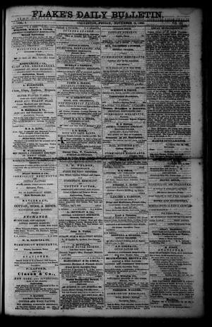 Primary view of object titled 'Flake's Daily Bulletin. (Galveston, Tex.), Vol. 1, No. 121, Ed. 1 Friday, November 3, 1865'.