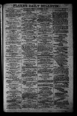 Primary view of object titled 'Flake's Daily Bulletin. (Galveston, Tex.), Vol. 1, No. 130, Ed. 1 Tuesday, November 14, 1865'.