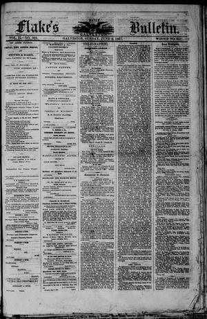 Primary view of object titled 'Flake's Daily Galveston Bulletin. (Galveston, Tex.), Vol. 2, No. 303, Ed. 1 Sunday, June 9, 1867'.
