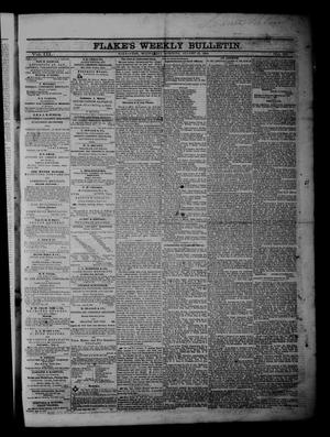 Flake's Weekly Bulletin. (Galveston, Tex.), Vol. 3, No. 25, Ed. 1 Wednesday, August 23, 1865