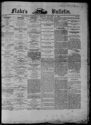 Primary view of object titled 'Flake's Weekly Galveston Bulletin. (Galveston, Tex.), Vol. 3, No. 46, Ed. 1 Wednesday, January 17, 1866'.