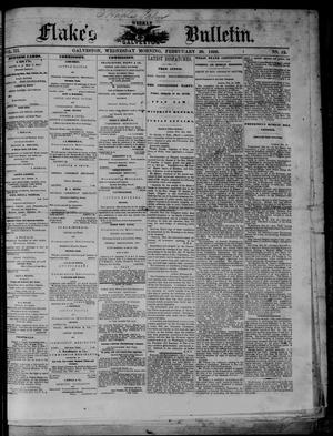 Primary view of object titled 'Flake's Weekly Galveston Bulletin. (Galveston, Tex.), Vol. 3, No. 52, Ed. 1 Wednesday, February 28, 1866'.