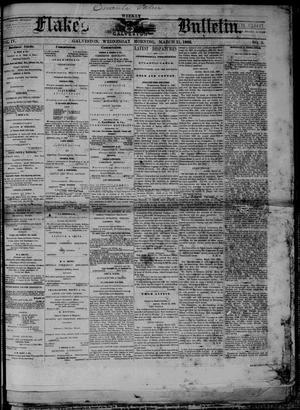 Primary view of object titled 'Flake's Weekly Galveston Bulletin. (Galveston, Tex.), Vol. 4, No. 3, Ed. 1 Wednesday, March 21, 1866'.