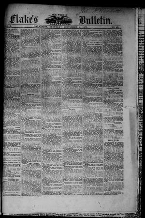 Primary view of object titled 'Flake's Semi-Weekly Galveston Bulletin. (Galveston, Tex.), Vol. 10, No. 49, Ed. 1 Saturday, September 9, 1871'.