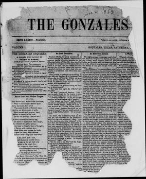 Primary view of object titled 'The Gonzales Inquirer (Gonzales, Tex.), Vol. 1, No. 1, Ed. 1 Saturday, June 4, 1853'.
