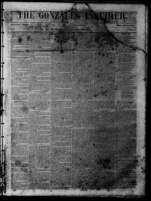 The Gonzales Inquirer (Gonzales, Tex.), Vol. 1, No. 34, Ed. 1 Saturday, January 21, 1854