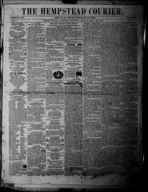 Primary view of object titled 'The Hempstead Courier (Hempstead, Tex.), Vol. 1, No. 47, Ed. 1 Saturday, May 26, 1860'.