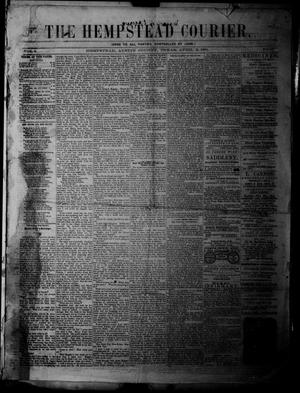 Primary view of object titled 'The Hempstead Courier (Hempstead, Tex.), Vol. 3, No. 2, Ed. 1 Saturday, April 6, 1861'.