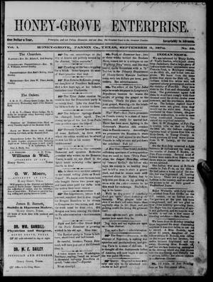 Honey-Grove Enterprise (Honey Grove, Tex.), Vol. 1, No. 12, Ed. 1 Saturday, September 3, 1870