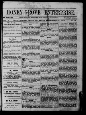 Honey-Grove Enterprise (Honey Grove, Tex.), Vol. 1, No. 15, Ed. 1 Saturday, September 24, 1870