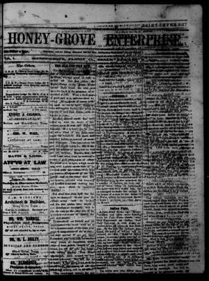 Primary view of Honey-Grove Enterprise (Honey Grove, Tex.), Vol. 1, No. 29, Ed. 1 Saturday, January 7, 1871