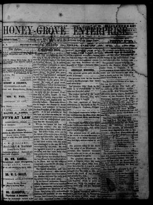 Primary view of object titled 'Honey-Grove Enterprise (Honey Grove, Tex.), Vol. 1, No. 31, Ed. 1 Saturday, January 28, 1871'.