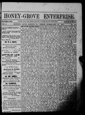 Primary view of object titled 'Honey-Grove Enterprise (Honey Grove, Tex.), Vol. 1, No. 34, Ed. 1 Saturday, February 18, 1871'.