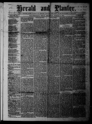 Herald and Planter (Hallettsville, Tex.), Vol. 3, No. 34, Ed. 1 Thursday, March 18, 1875