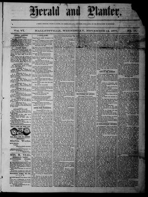 Herald and Planter (Hallettsville, Tex.), Vol. 6, No. 17, Ed. 1 Wednesday, November 14, 1877