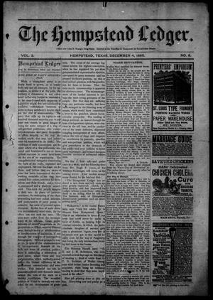 The Hempstead Ledger (Hempstead, Tex.), Vol. 2, No. 6, Ed. 1 Friday, December 4, 1885