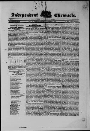 Primary view of object titled 'Independent Chronicle. (Galveston, Tex.), Vol. 1, No. 8, Ed. 1 Sunday, October 15, 1843'.