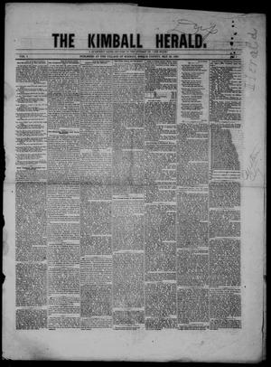 Primary view of object titled 'The Kimball Herald (Kimball, Tex.), Vol. 1, No. 1, Ed. 1 Sunday, May 20, 1860'.