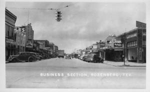 "Primary view of object titled '[""Business Section"" of downtown Rosenberg, TX]'."