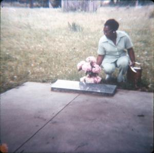 [Decorating a Grave in Harrison County]