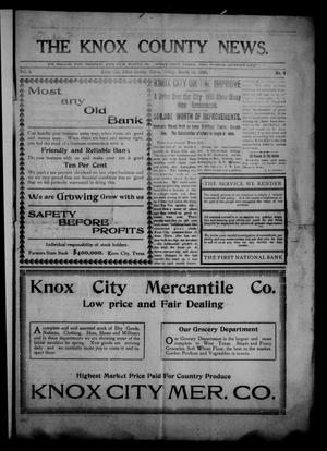 Primary view of object titled 'The Knox County News (Knox City, Tex.), Vol. 5, No. 8, Ed. 1 Friday, March 12, 1909'.