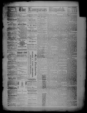 Primary view of object titled 'The Lampasas Dispatch (Lampasas, Tex.), Vol. 2, No. 39, Ed. 1 Saturday, December 14, 1872'.