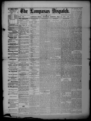 Primary view of object titled 'The Lampasas Dispatch (Lampasas, Tex.), Vol. 7, No. 1, Ed. 1 Thursday, May 31, 1877'.
