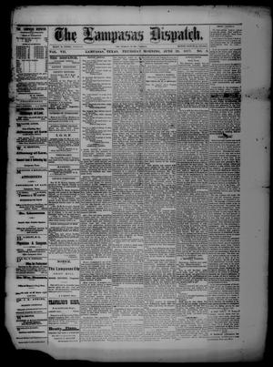 Primary view of object titled 'The Lampasas Dispatch (Lampasas, Tex.), Vol. 7, No. 5, Ed. 1 Thursday, June 28, 1877'.